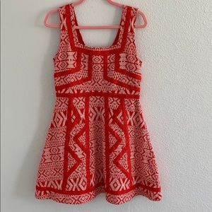 NWT Anthropologie Maeve Red & White Knit Dress 10P